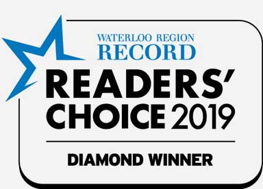waterloo region record readers' choice 2019 diamond winner badge