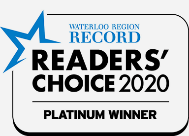 waterloo region record readers' choice 2020 platinum winner badge